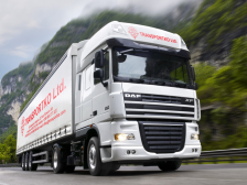 Камион на фирма транспортко (колаж)